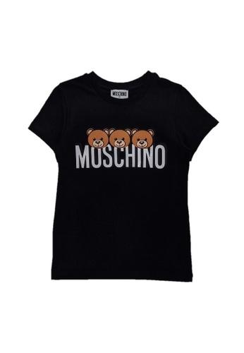 MOSCHINO BABY KID TEEN black MOSCHINO KIDS T-SHIRT 20009KA67DAD67GS_1