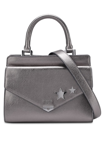 Guess silver Lottie Satchel GU020AC0RUT1MY_1