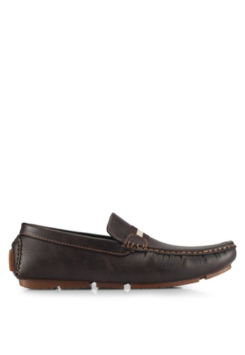 UniqTee brown Moccasin With Contrast Strap And Stitch B0AEFSHF98EF72GS_1