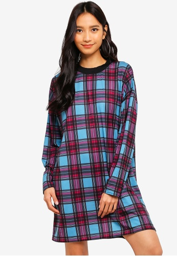 f1132adc611fc Shop MISSGUIDED Oversized Long Sleeve Checkered T-Shirt Dress Online on ZALORA  Philippines