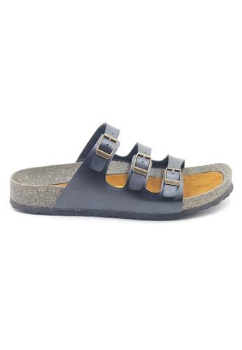 SoleSimple 黑色 Ely - 黑色 百搭/搭帶 涼鞋 C01CASHC0F1029GS_1