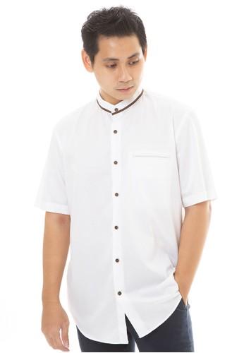 MANLY white MANLY Baju Koko Regular Fit Elder White 179EEAA0631D96GS_1
