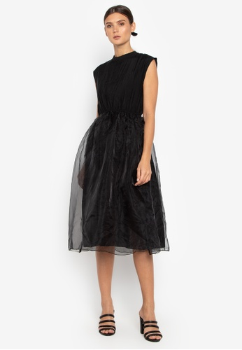 Susto The Label black Gala Tulle Dress 3F5E3AAC7DD6D9GS_1