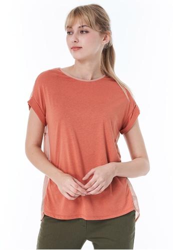Sisley pink Round Neck T-shirt F2238AAA154286GS_1