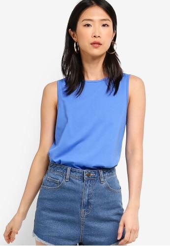 ZALORA BASICS blue Basic Swing Vest F9C41AA4DEE211GS_1