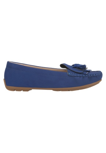 Beira Rio blue Solid Color Casual Tasseled Loafer MO998SH93EVUHK_1