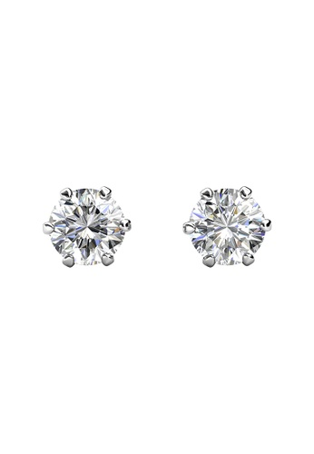 Her Jewellery CELÈSTA Moissanite Diamond - Les Solitaire Earrings  (925 Silver with White Gold Plating) by Her Jewellery BE171ACB589767GS_1