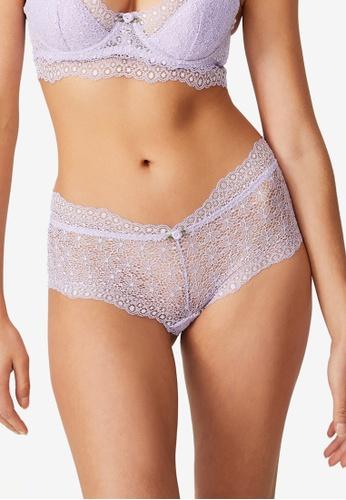 Cotton On Body purple Fifi Lace Boyleg Brief CF72BUS76E0000GS_1