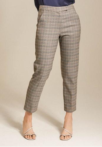 Dressing Paula brown Mid-Rise Cotton Blend Straight Leg Pants 161C6AA67D7E4DGS_1