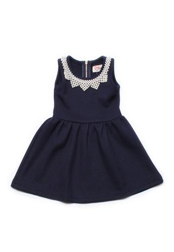 Mini Moley navy Faux Pearl Neckline Girl's Dress EEECAKA3CC9C16GS_1