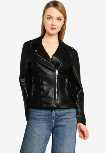 Forever New black Corrie PU Biker Jacket 90954AA5EBCD56GS_1