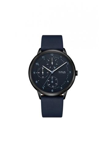 Solvil et Titus navy Nordic Tale Men's Quartz Analog Watch in Navy Blue Dial and Blue Leather Strap 9BD97AC030743FGS_1