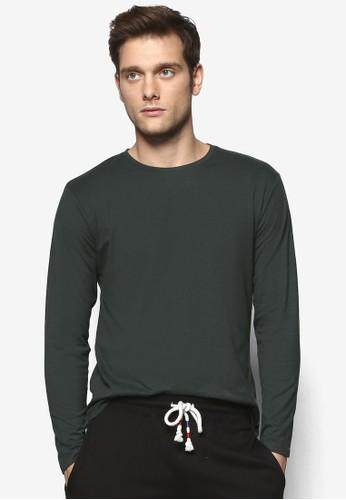 簡約圓領長袖衫, 服esprit 香港飾, T恤