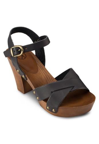 交叉繞踝esprit outlet 香港粗跟涼鞋, 女鞋, 鞋