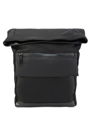 氯丁esprit分店橡膠翻蓋後背包, 包, 包