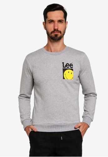 Lee grey Smileey Sweatshirt 2AF9BAA656A3A1GS_1