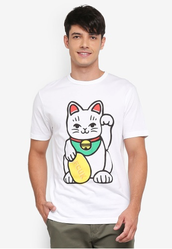 French Connection white Lucky FCUK Cat Tee D6EF8AAF6BF208GS_1
