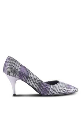 DMK purple and multi and silver Pointed Heel Pumps DM860SH25WAGMY_1