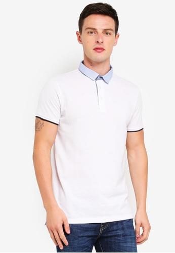 Brave Soul 白色 Pique Polo Shirt 2F883AAE196405GS_1