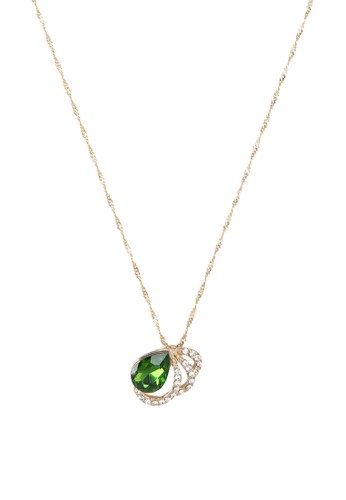 Cesprit tote baghristie 閃鑽寶石吊飾項鍊, 飾品配件, 項鍊