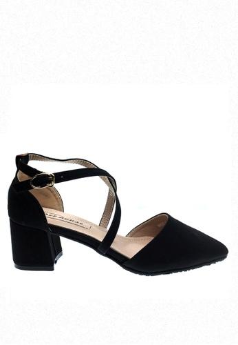 Twenty Eight Shoes black Cross Strap Mid Heel 546-15 TW446SH26RDHHK_1