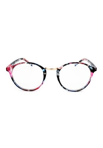 Elitrend multi Round Plastic Frame Glasses - Flora Print 4DD4BGL48137F2GS_1