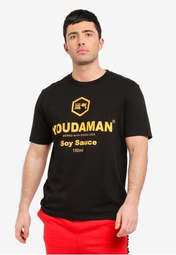Cotton On 黑色 短袖印花T恤 DAEBFAA7D502F7GS_1