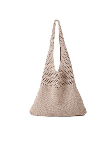 Lara beige Women's Weave Hobo Bag 9FBB2ACA8DCF4EGS_1