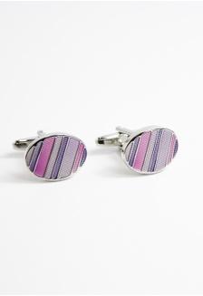 63e42e83201 Purple   Pink Oval Enamelled Cufflinks SP744AC36ALNSG 1