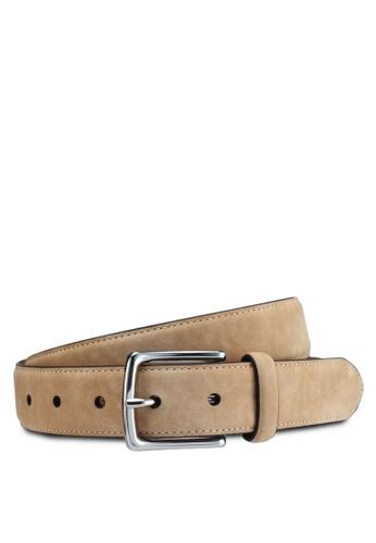 Burton Menswear London beige Light Stone Suede Belt D2435AC963E3EBGS_1