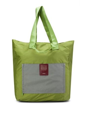 防水購物肩背包, zalora taiwan 時尚購物網包, 購物包