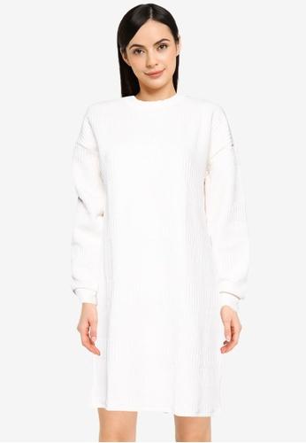 Noisy May white Benny Sweat Dress E90C2AAC518310GS_1
