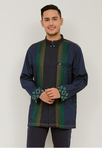 Woffi blue Raybat Koko Shirt 44F3EAA6A8EBF5GS_1