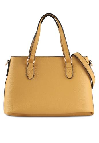 Dorothy Perkins yellow Yellow Mini Trapeze Tote Bag FD27DAC4CB7D5AGS_1