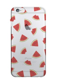 Watermelon Slice Transparent Hard Case for iPhone 6+
