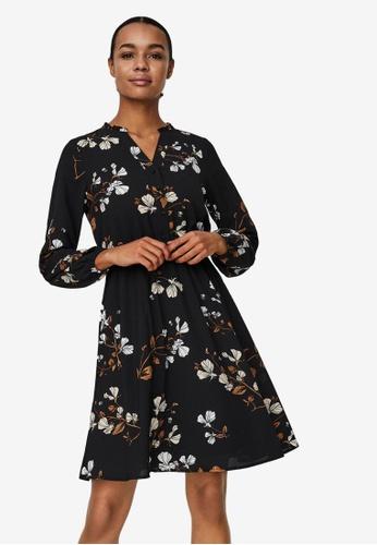 Vero Moda black Aya Printed Mini Dress B99E1AA40B28F9GS_1