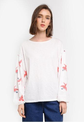 Esprit white Long Sleeve T-Shirt E630BAA69D0CABGS_1