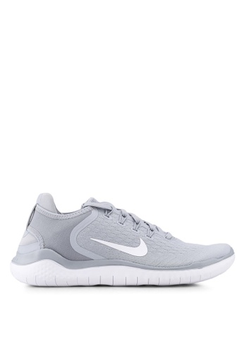 Nike grey and white Men's Nike Free RN 2018 Running Shoes A58FFSH28803FCGS_1