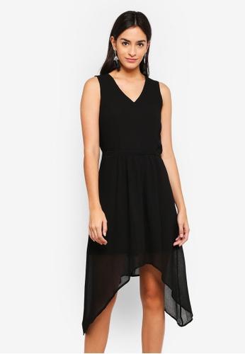 Vero Moda black Hanni Midi Dress F39FFAADEE8DA0GS_1