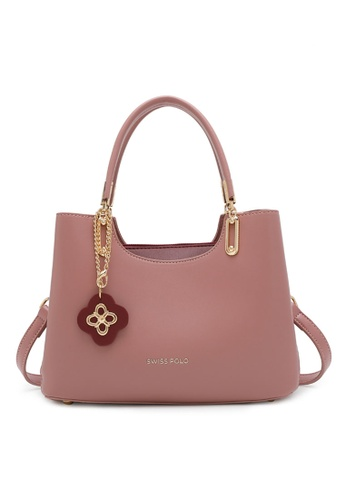 Swiss Polo pink Faux Leather Top Handle Bag 6A462AC94E6027GS_1