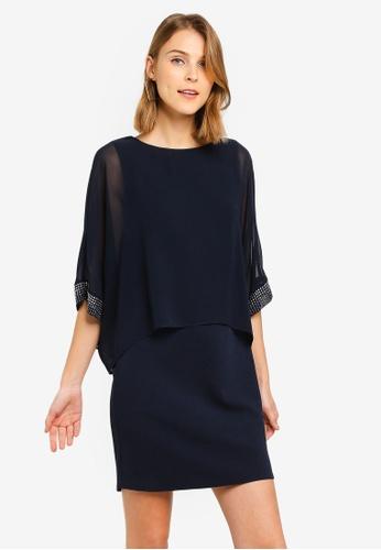 bec7a525b23e Buy Wallis Petite Navy Sparkle Cuff Dress Online | ZALORA Malaysia