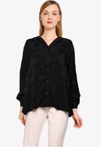 LOWRYS FARM black Woven Shirt 66B6FAA8FDA387GS_1