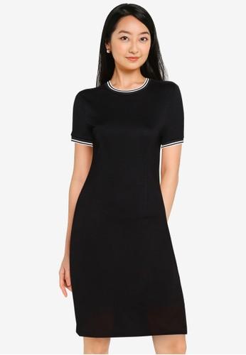 ZALORA BASICS black Contrast Trim Bodycon Dress 1C299AAFC05711GS_1