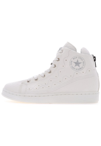 Maxstar Maxstar O2H Synthetic Leather Taller Insole White Platform Sneakers US Women Size MA168SH58USNHK_1