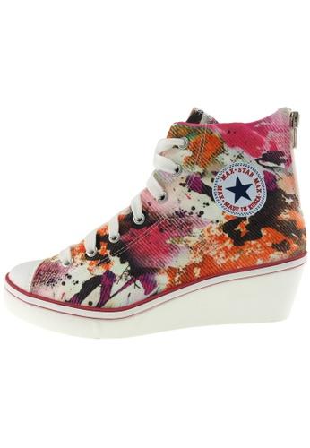 Maxstar Maxstar Women's N7H Zipper Canvas Low Wedge Heel Sneakers US Women Size MA168SH63ZUEHK_1