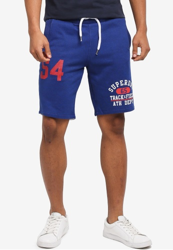Superdry blue Track & Field - Trackster Shorts 17C7CAA2A30658GS_1