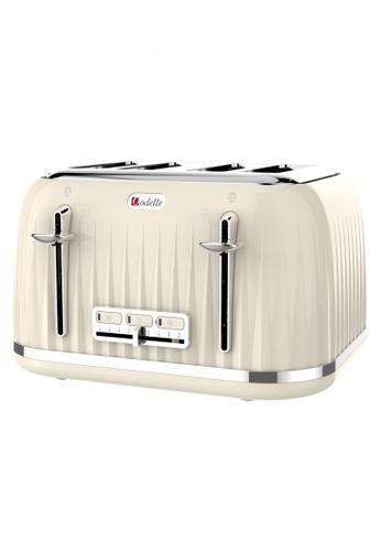 Odette beige Jukebox Series 4-Slice Bread Toaster (Beige) 661DFHL14175BFGS_1