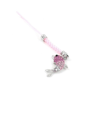 Glamorousky pink Pink Strap with Dolphin Charm by Pink Austrian Element Crystals 38B88ACAB7E522GS_1