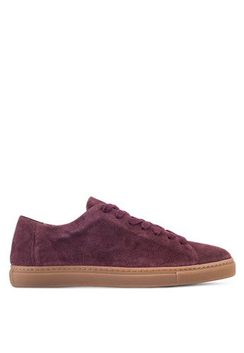 Selected Homme red David Suede New Sneakers SE364SH82FVTMY_1