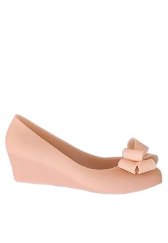 Twenty Eight Shoes 粉紅色 立體蝴蝶果凍膠船跟雨鞋 VR5105 B52DFSH2008915GS_1